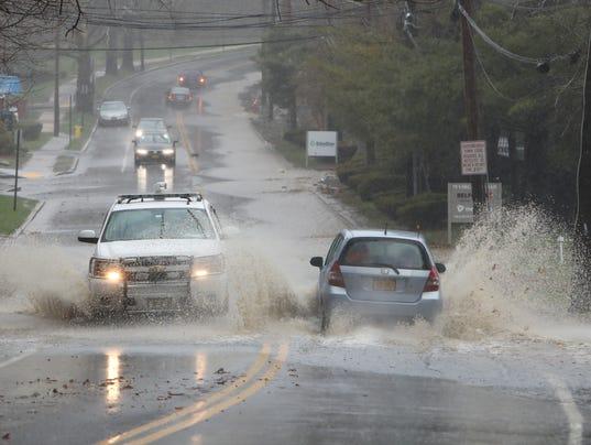 Flooding Virginia Road