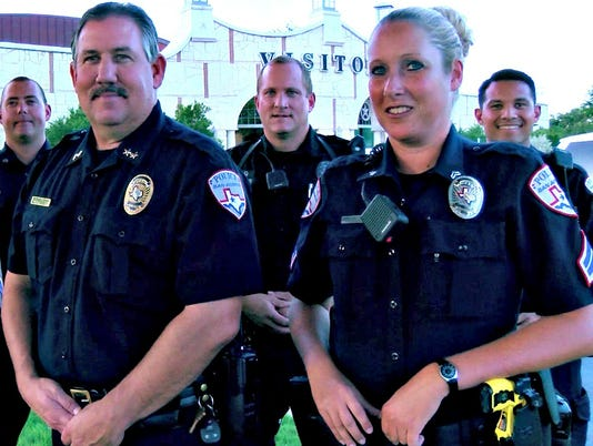 San Angelo Police Department's recruiting photo