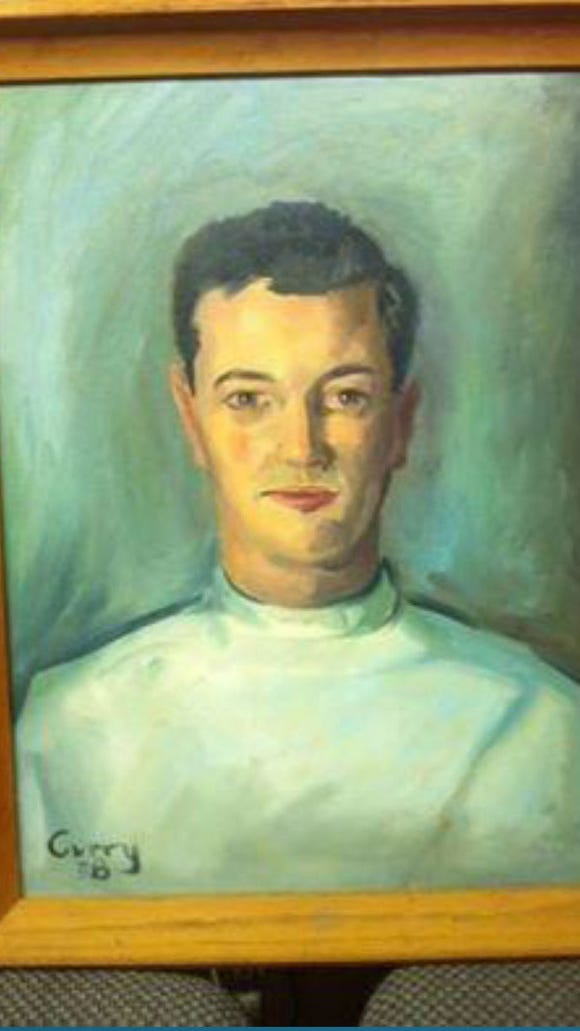 A John Curry portrait. His work hangs in homes around York County. Notice his distinctive signature, left bottom.