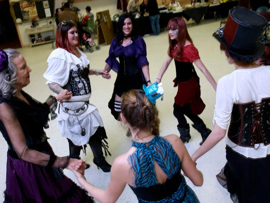 """Revelers get up to dance during last year's """"Steamers"""