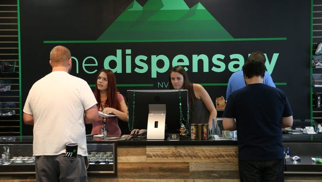 Opening day of legal recreational marijuana sales in Reno on July 1, 2017.