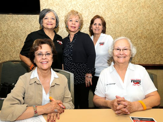 Connie Carr, standing left to right, Grace Camacho and Jenny Robles, and sitting, left to right, Romi Samaniego and Nena Samaniego