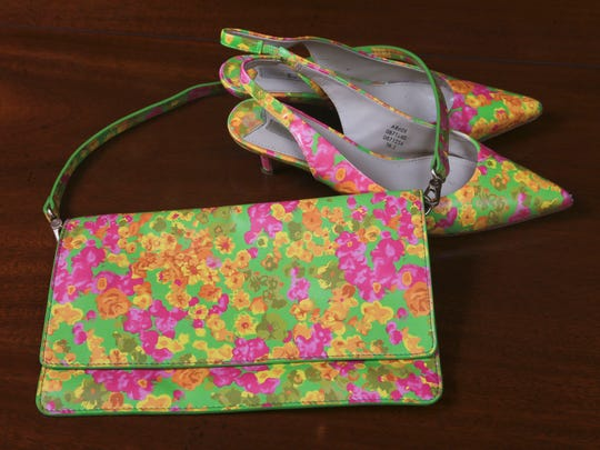 Stylemaker Martha Soley's matching purse and shoes.