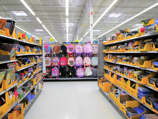 The school year is just around the corner and the shelves at Walmart are fully stocked for student's supplies.