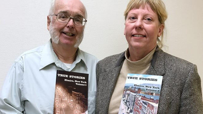 Elmira history buff James Hare and city historian Diane Janowski have compiled a series of newspaper columns on local history into two new books.