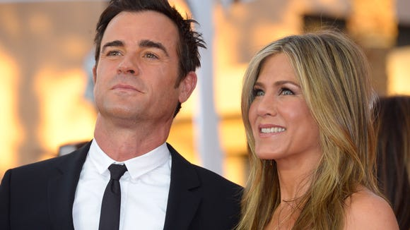 Jennifer Aniston and Justin Theroux at the 2015 Screen
