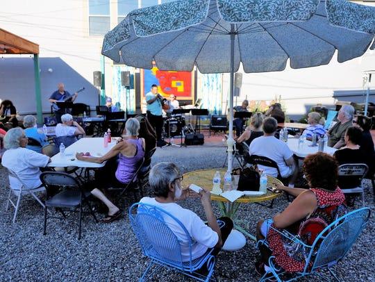 The weekly Jazz Jams at the Studio 116 pocket park