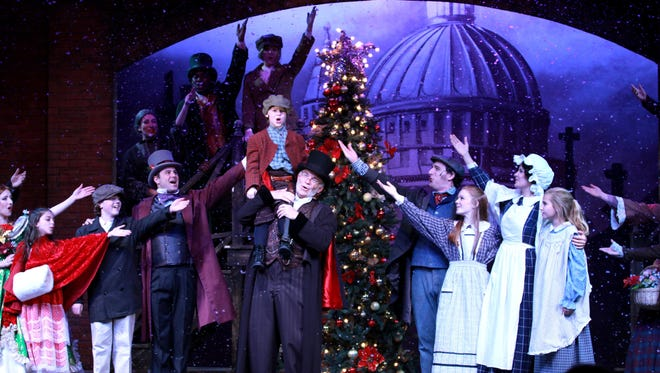 """A file image of a musical adaptation of """"A Christmas Carol"""" at Broadway Palm Dinner Theatre in Fort Myers."""