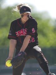 Stevens Point Area Senior High School's pitcher Aubrey