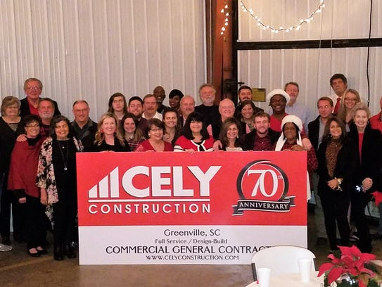 The Cely team celebrating the company's 70th year in business.
