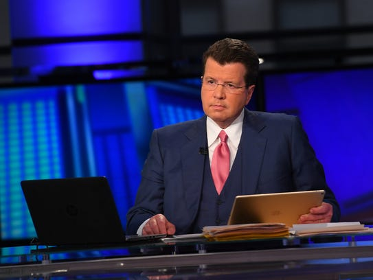 Neil Cavuto, host of 'Cavuto: Coast to Coast' on Fox Business Network on Oct. 10, 2017. The network touts how in the last year it has overtaken CNBC as the most watched business network.