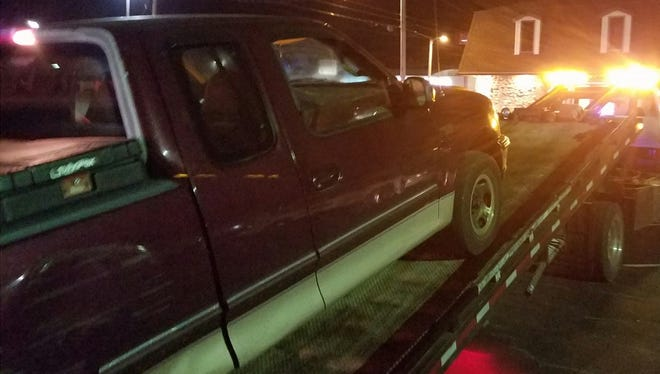 Vehicle being towed at a recent DUI checkpoint.
