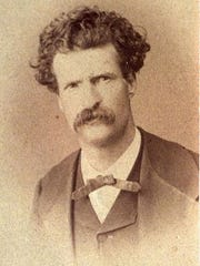 Mark Twain, pictured in 1867, three years after he