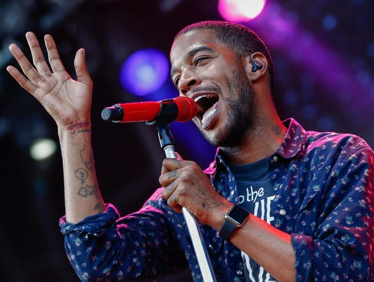 Kid Cudi performs Wednesday at the Rave's Eagles Ballroom.