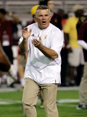 Arizona State head coach Todd Graham.