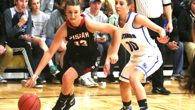 Brooklyn Allen, left, scored 10 points in Monday night's East-West All-Star girls basketball game in Greensboro.