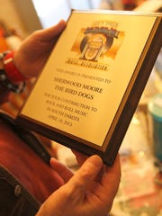"""Sherwood """"Woody"""" Moore was inducted into the South Dakota Rock and Roll Association in 2015 for his work in the 1960s with the band the Bird Dogs."""
