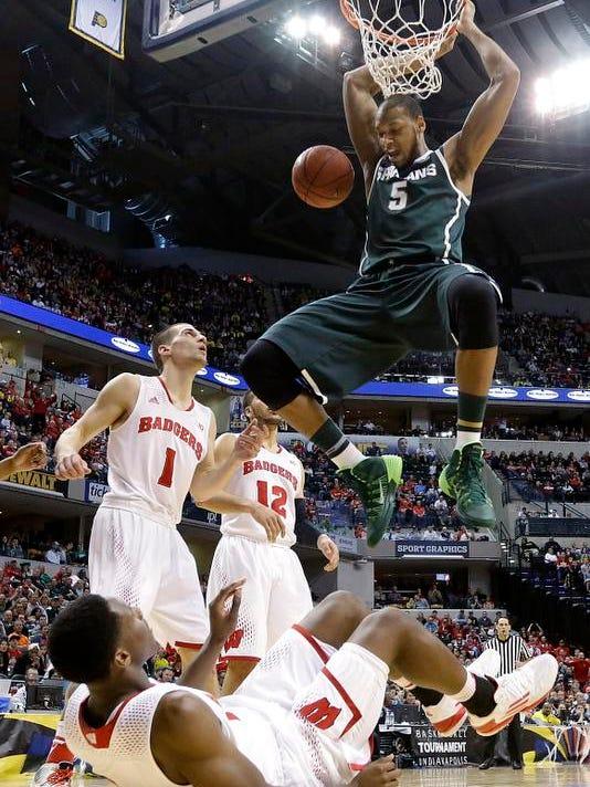 APTOPIX B10 Michigan St Wisconsin Basketball