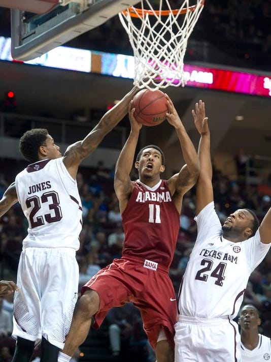 Alabama Texas A M Basketball