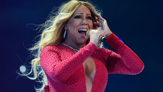 Singer Mariah Carey performs during her Sweet Fantasy Tour at the Arena Ciudad de Mexico in Mexico City on Nov. 8, 2016.