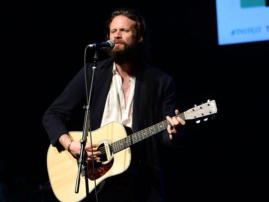 Father John Misty performs during The New Yorker Festival