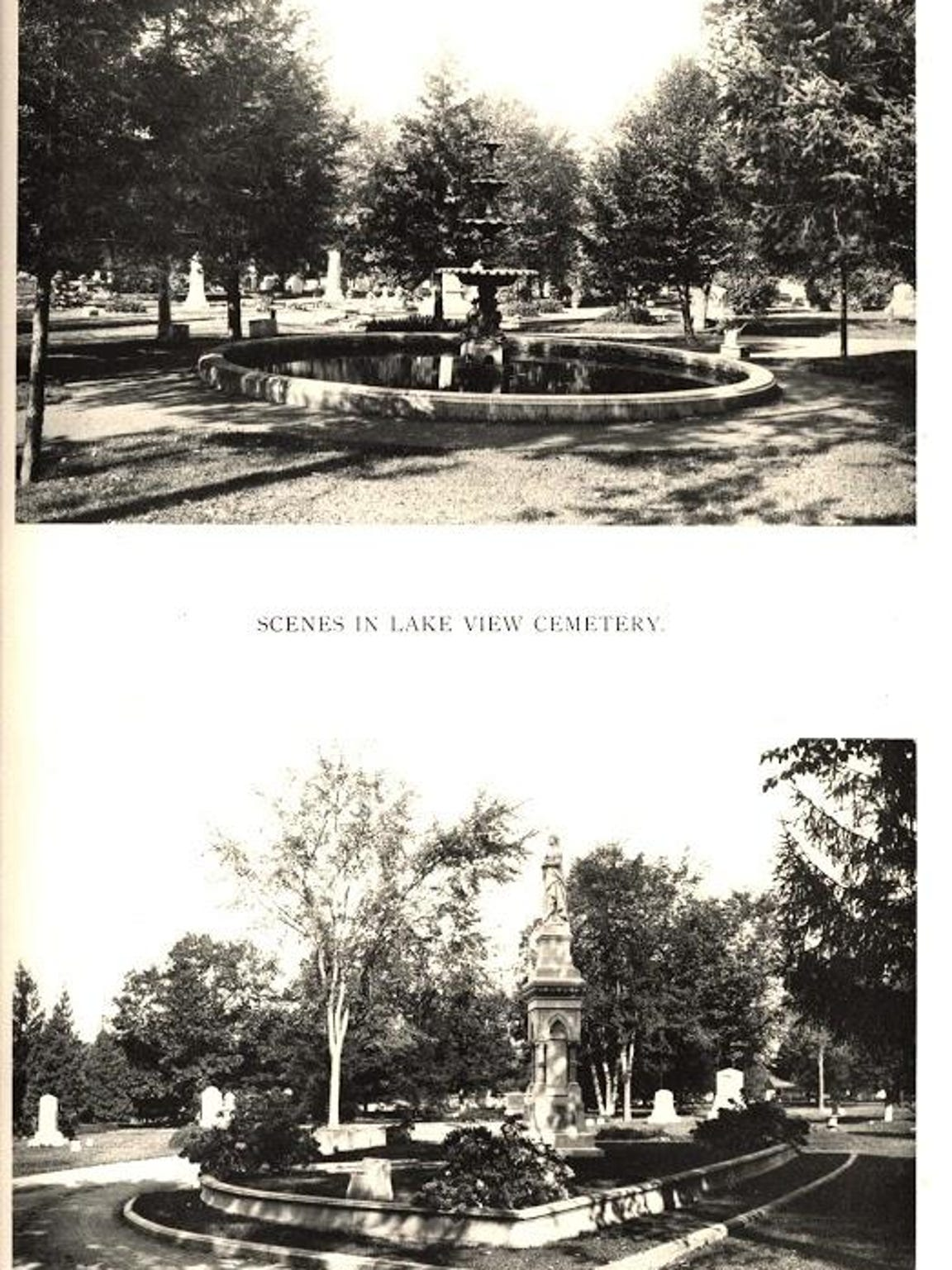 Historic views of Lakeview Cemetery.