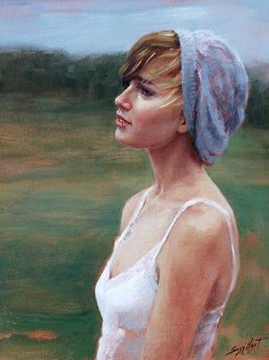 """""""JoJo"""" is an oil portrait by Suzy Hart."""