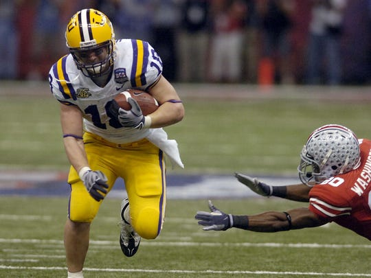 LSU's No. 18 tradition began with former running back Jacob Hester. He wore the jersey for the longest span, four seasons from 2004-07