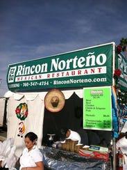The Rincón Norteño booth during the Indio International
