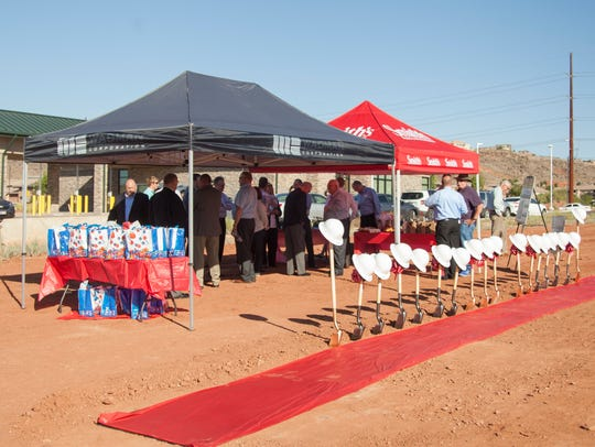 Developers and St. George City officials break ground