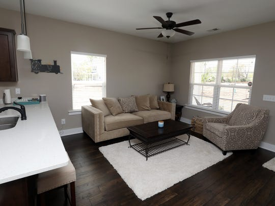 The interior of Erin Tapocik's home in Village Green in Old Hickory. Tapocik is one of the first residents of the new neighborhood.