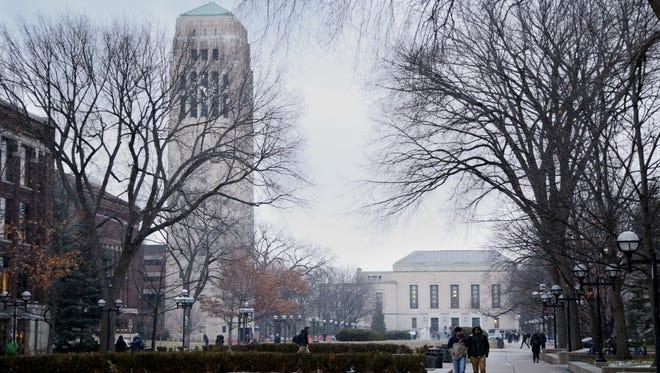University of Michigan Diag in Ann Arbor in February, 2016.