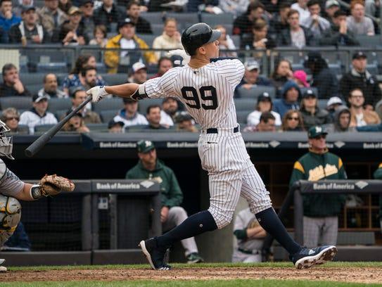 May 12, 2018; Bronx, NY, USA; New York Yankees right