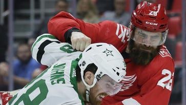 Despite penalties, Wings' Witkowski not going to change