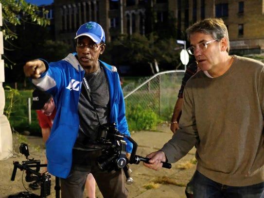 Jean-Claude Lewis, left, 56, of Detroit, Director/Producer