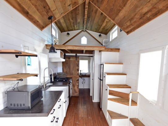 The inside of a tiny home in Mt. Joy Township in Lancaster
