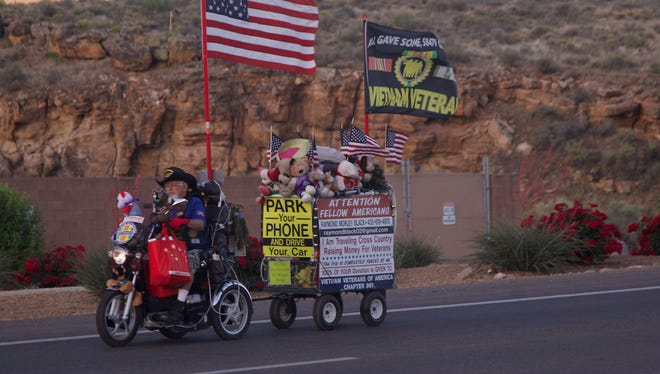 Raymond Black will spend his summer going 10 miles per hour across the Southwest to raise money for the Vietnam Veterans of America Chapter 961.