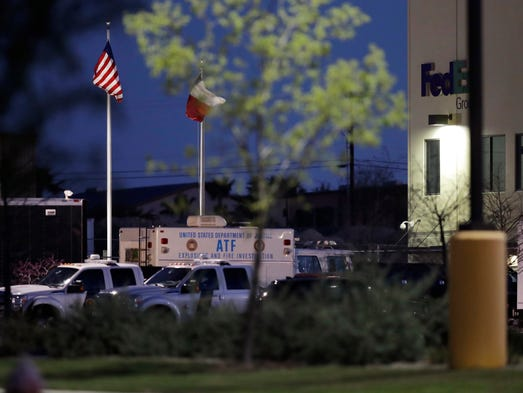 Bomb explodes at Texas Fedex