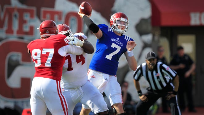 Nate Sudfeld (7) is the projected starter for Indiana University