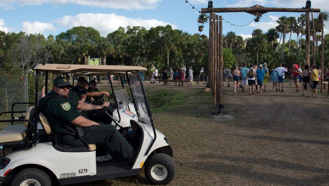 There was a strong police presence at the second annual Okeechobee Music and Arts Festival March 2-5.
