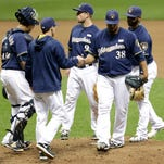 Wily Peralta (38) and the Milwaukee Brewers' starting rotation have struggled so far this season.