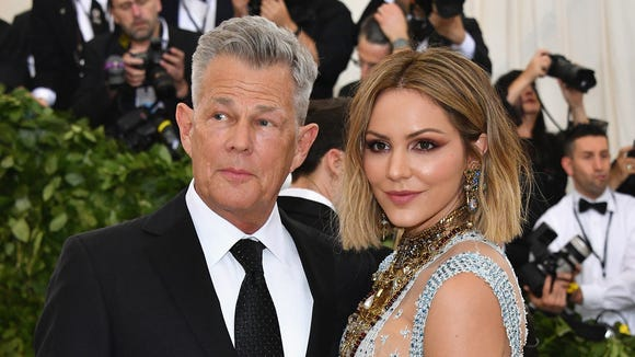 David Foster and Katharine McPhee at the 2018 Met Gala