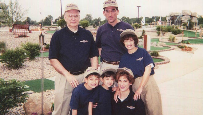 A photo of Ben & Ari's family, shared along with a closing letter on the company website, The longtime family fun center closed Sunday after nearly 18 years.