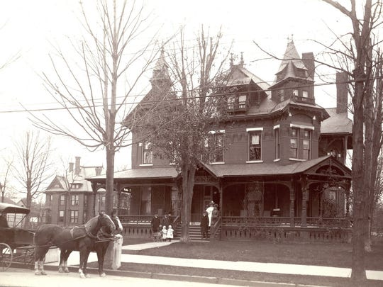 The Horace Crary Mansion, at 70 Main St. in Binghamton, about 1890.