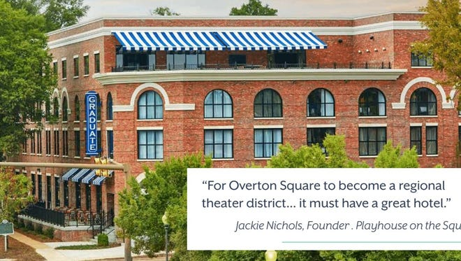 This is not the hotel proposed for Overton Square, but shows the kind of hotel a Loeb Partner has built in Oxford, Mississippi.