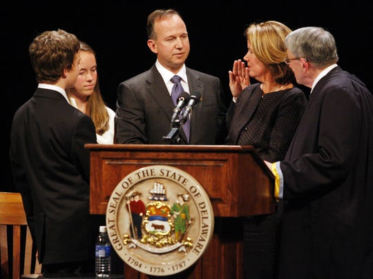 Gov. Jack Markell was sworn in on Jan. 20, 2009. His eight-year tenure ends Tuesday.