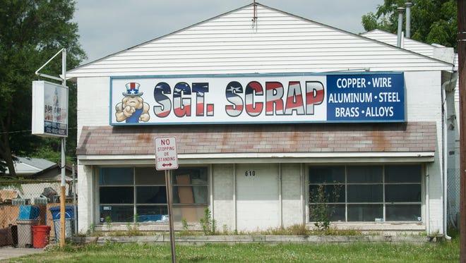 Exterior of Sgt. Scrap in Gloucester City.