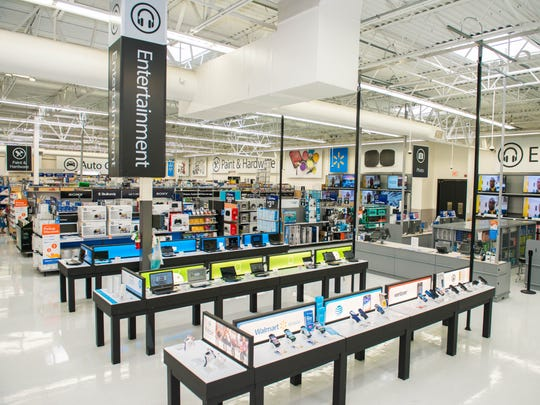 The Shippensburg Walmart electronics department is to be upgraded in the spring of 2018 to look like this.