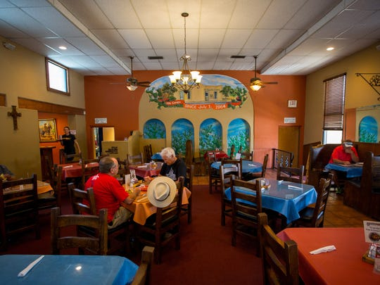 Diners enjoy lunch at popular Nopalito's restaurant