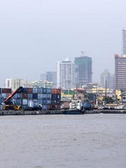 Containers are piled up at the North Harbor on Thursday, May 29, 2014 in Manila, Philippines. Currently the Philippines ranks 13th out of 42 countries in the Asia–Pacific region, and its overall score is above the world and regional averages, according to heritage.org.